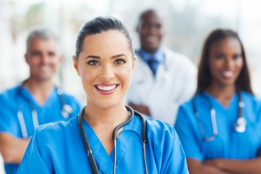 medical nurse and colleagues home idental group